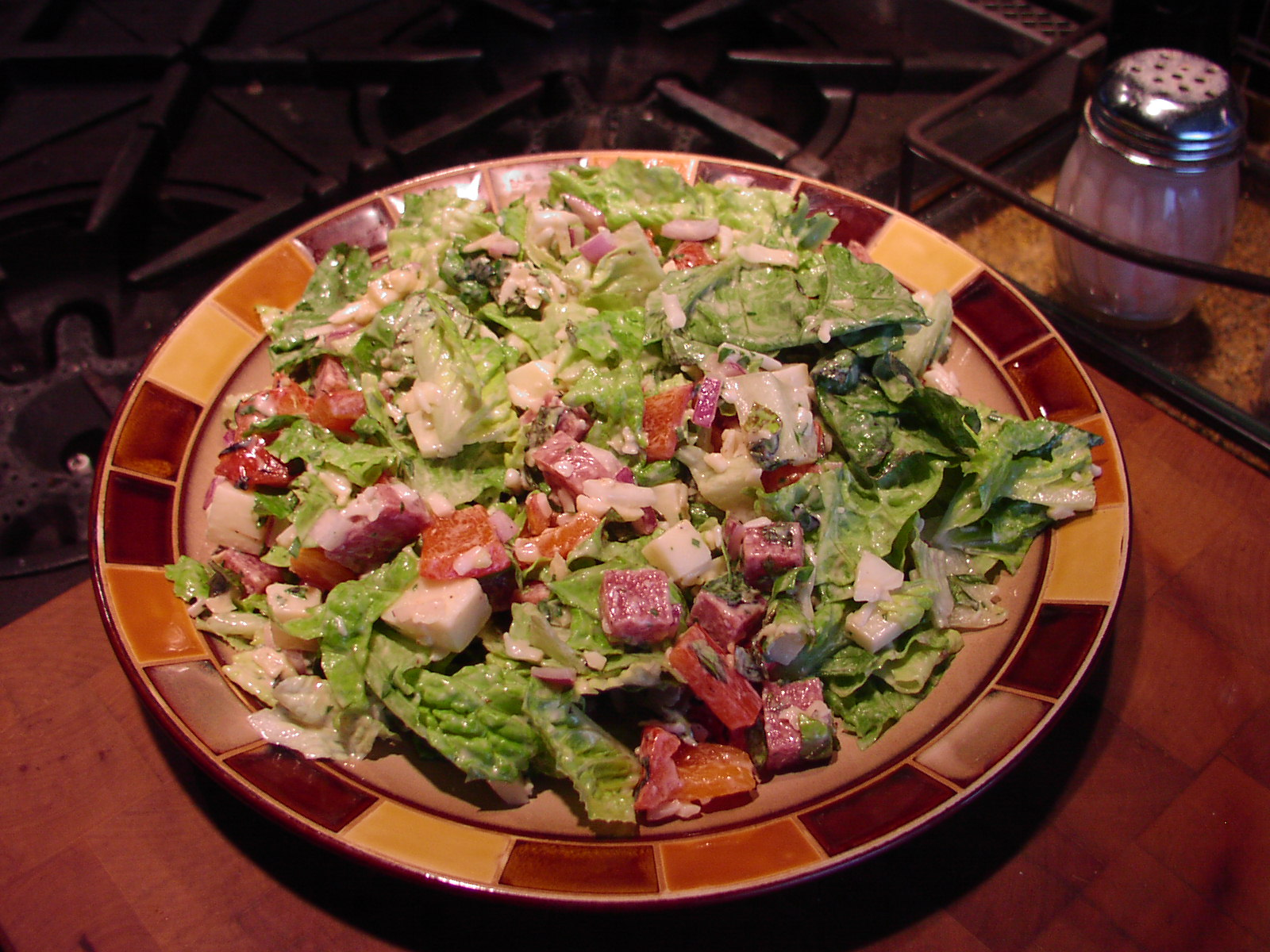 chopped salad with salami and cheese chez carr cuisine. Black Bedroom Furniture Sets. Home Design Ideas